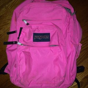 bright pink large JANSPORT bookbag (backpack)